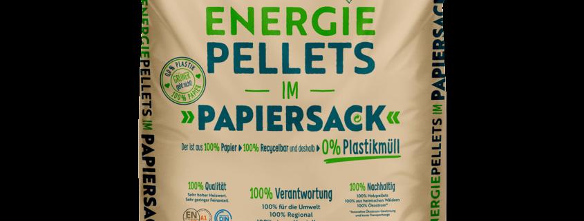 Holzpellets im Papiersack, Energiepellets - EPH Hosenfeld, Region Fulda