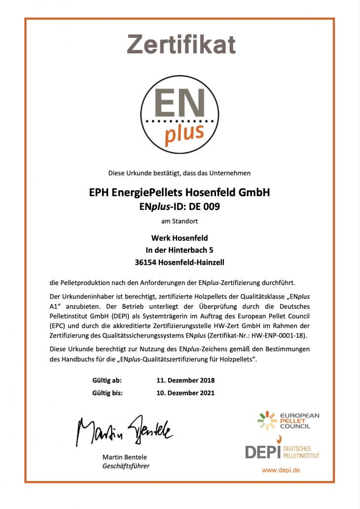 ENplus-Zertifikat_DE009_EPH_2018-2021